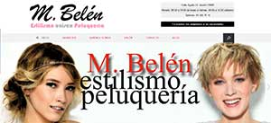 Página web para Salón de Belleza y Peluquería M Belen