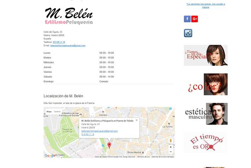 web para centro de estetica y peluqueria 4