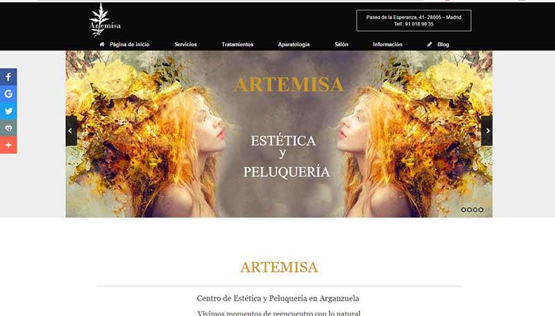 contenido paginas web para centro de estetica y peluqueria
