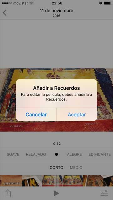 como crear un vídeo personalizado con iOS 10 de Iphone 3